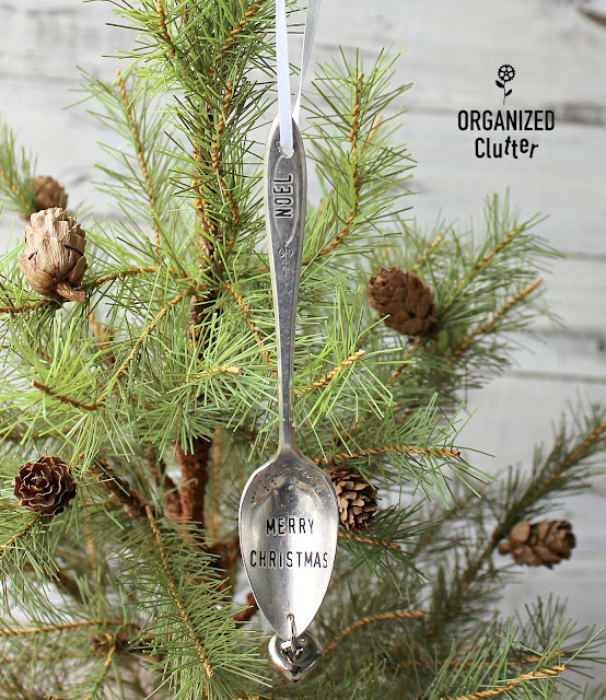 Faux Stamped Spoon Ornaments