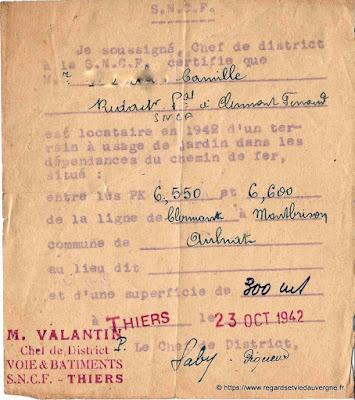 Carnet de jardinage 1942