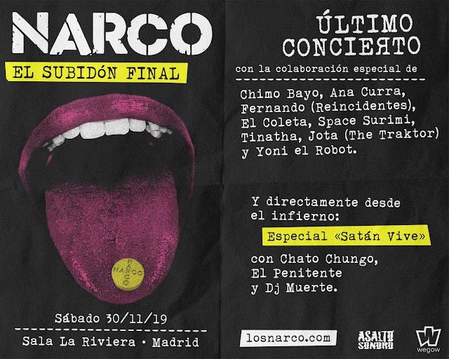 Narco, Concierto, Madrid, La Riviera