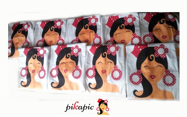 Camisetas serigrafiadas flamenca Pikapic