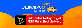 Jumia Prime, subscribe for free delivery on Jumia products