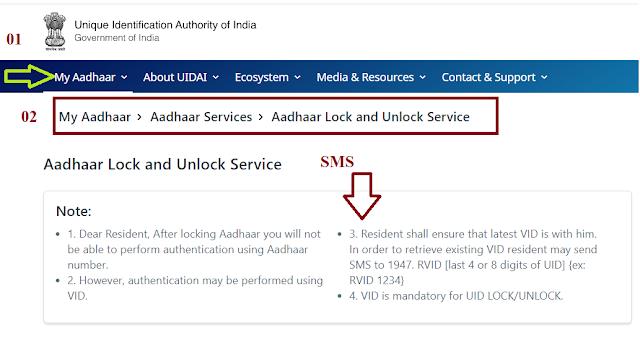 Aadhaar Card Ko Unlock,Aadhaar Card Ko online Lock Kaise Kare ?