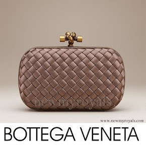Crown Princess Mary carries Bottega Veneta Knot Clutch