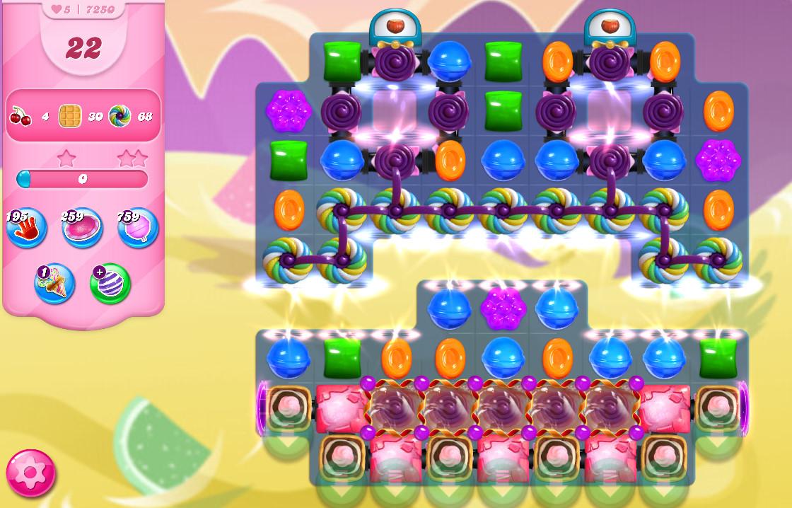 Candy Crush Saga level 7250