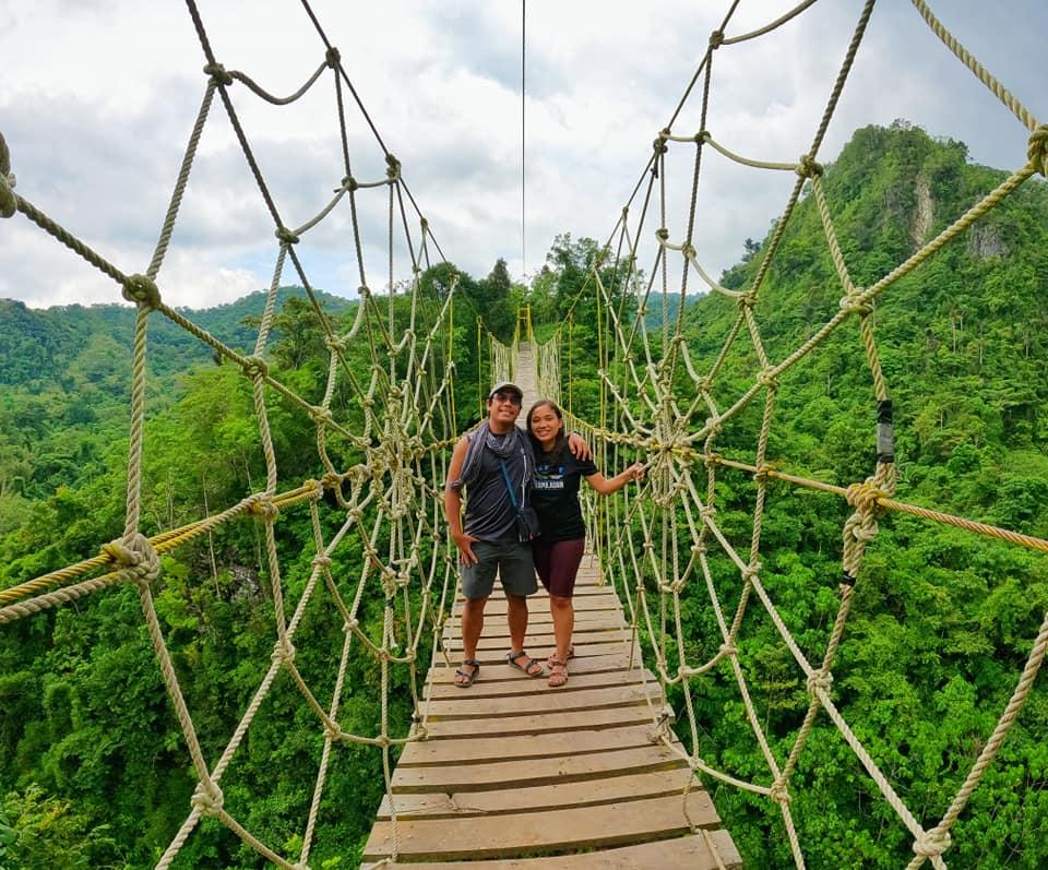 Mt. Kulis in Tanay Rizal Philippines Hanging Bridge
