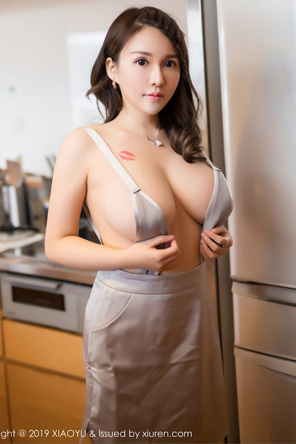 Hot and sexy braless big boobs photos of beautiful busty asian hottie chick Chinese booty model Shen Mi Tao photo highlights on Pinays Finest Sexy Nude Photo Collection site.