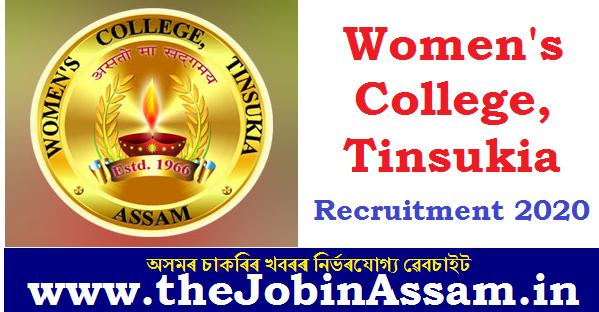 Women's College, Tinsukia Recruitment 2020