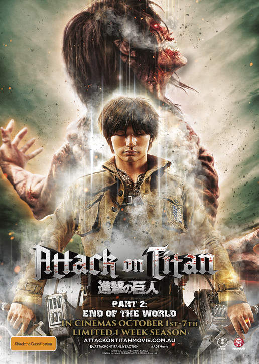 Attack on Titan 2015 Hindi Dubbed 720p HDTV 800MB