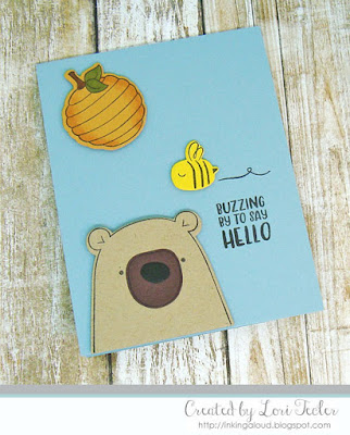 Buzzing by to Say Hello card-designed by Lori Tecler/Inking Aloud-stamps and dies from SugarPea Designs