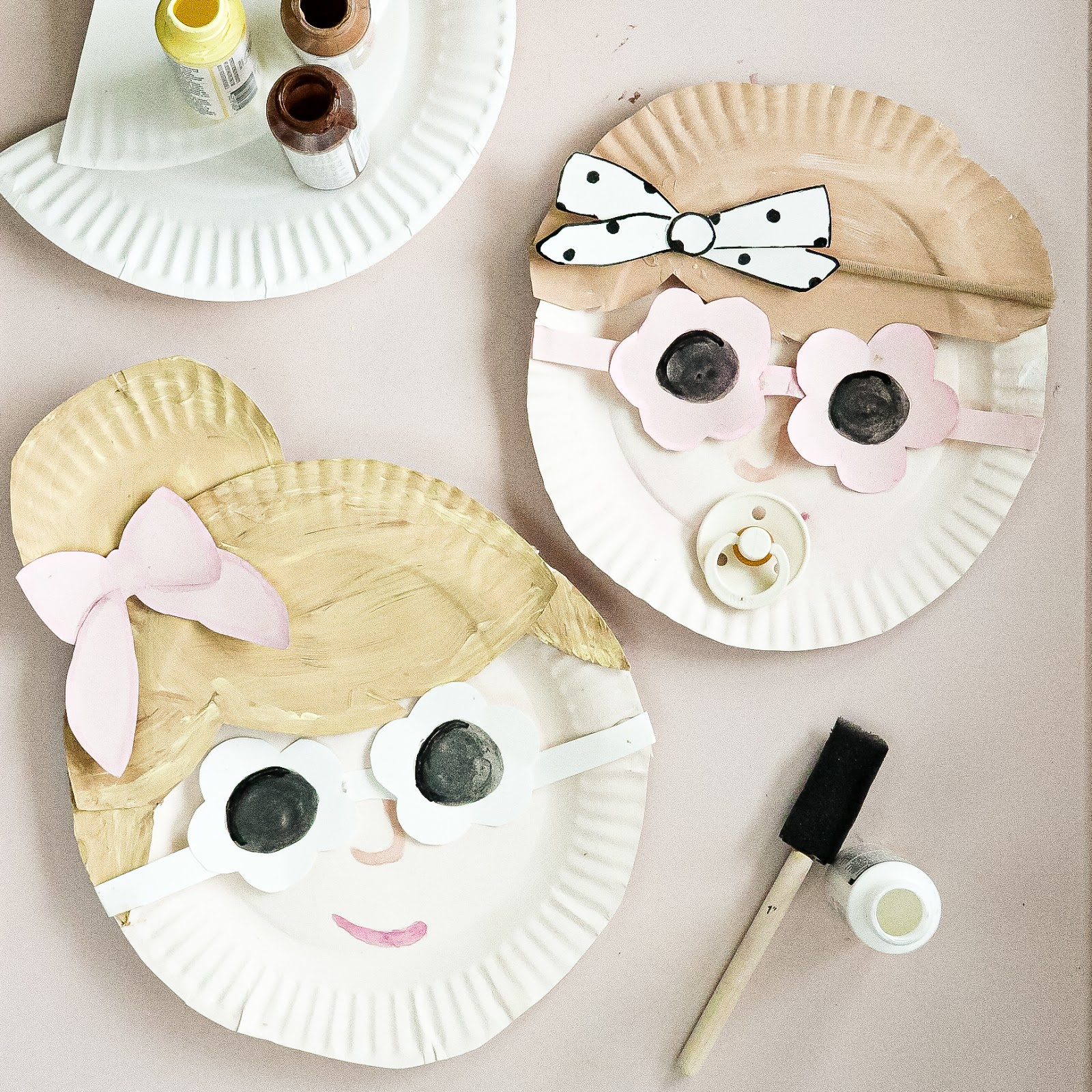 Paper Plate Craft summertime girls
