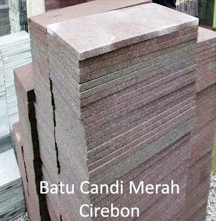 Gambar Batu Alam Candi Merah Cirebon untuk Templek Dinding