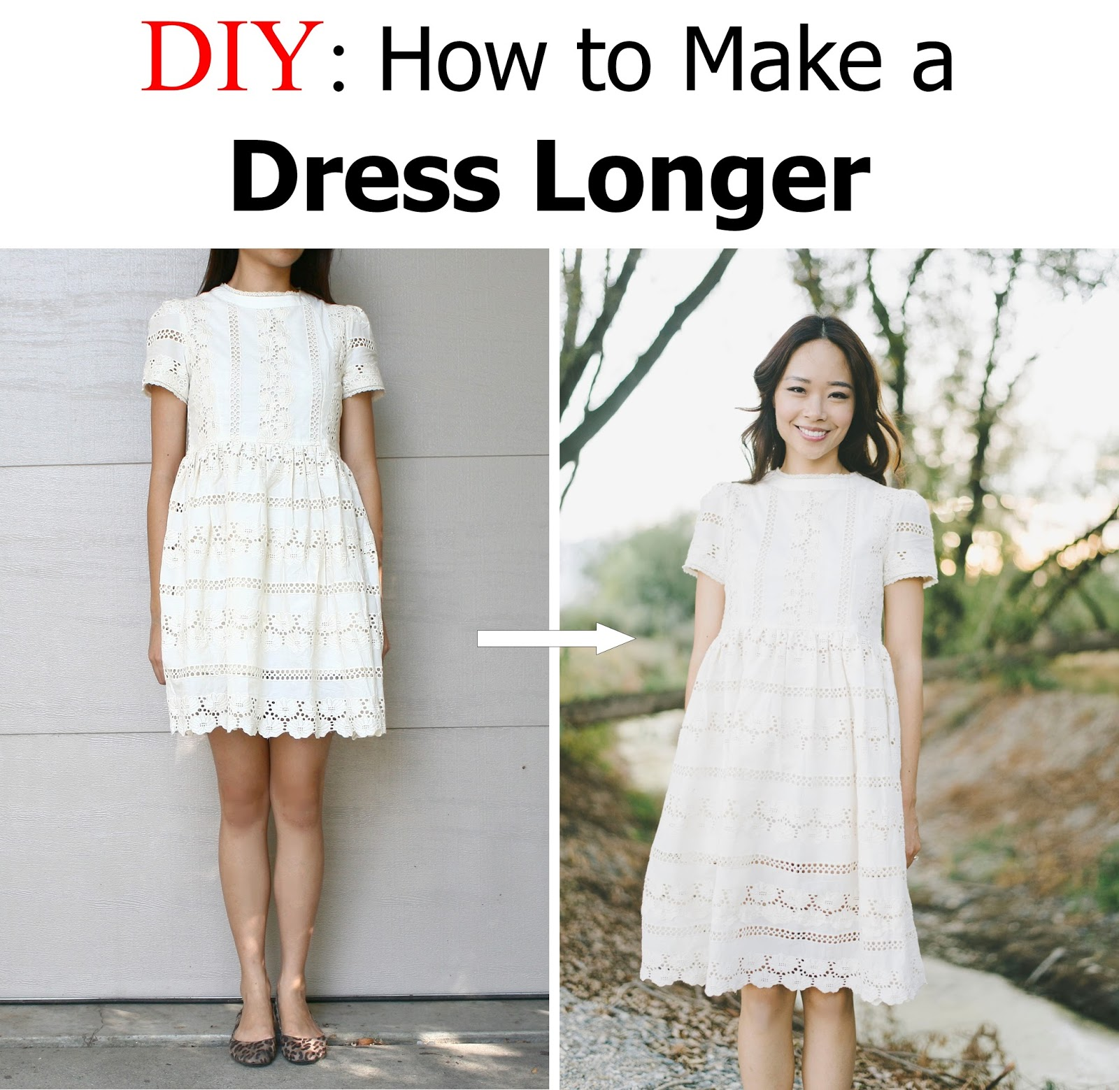 How To Make A Two Story Living Room Cozy: DIY: Make A Dress A Longer Length