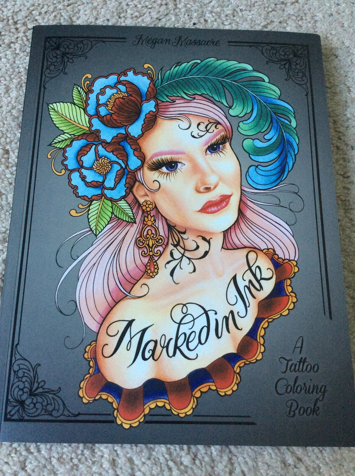 Nesca's Nook: Marked in Ink - A Tattoo Coloring book by