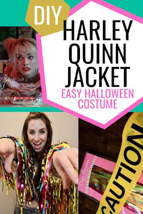 Diy Harley Quinn's Caution tape Jacket