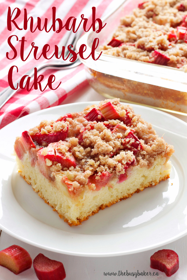 Rhubarb Coffee Cake With Streusel Topping