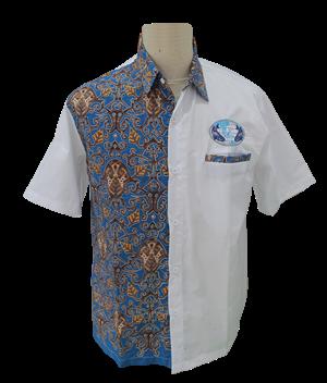 baju seragam kerja motif batik
