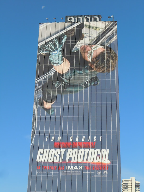 Mission impossible: Ghost Protocol movie billboard