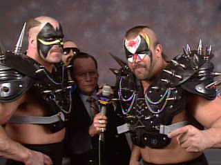 WCW Clash of the Champions X - The Road Warriors faced The Skyscrapers