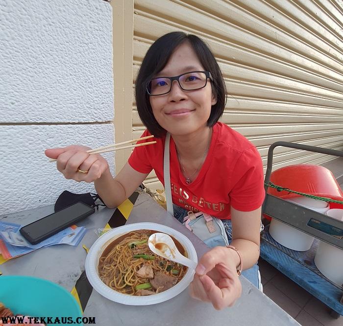 Chulia Street Night Hawker Stalls Hokkien Noodles Mee
