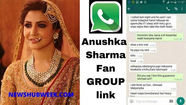 Join 2+ Anushka Sharma Fan Club WhatsApp Groups link New Update