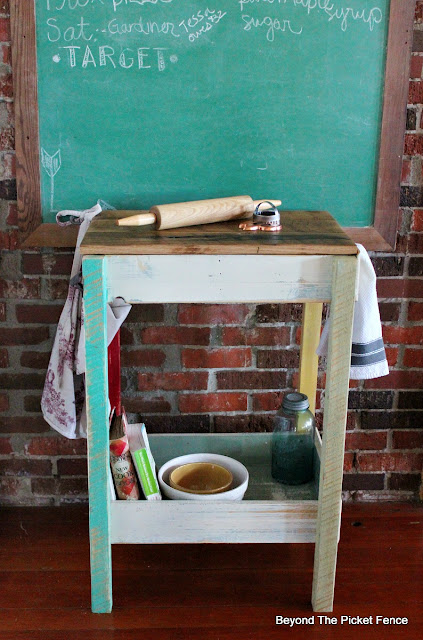 old drawers, kitchen island, work station, reclaimed, vintage, kitchen, http://bec4-beyondthepicketfence.blogspot.com/2016/02/old-drawer-work-station.html