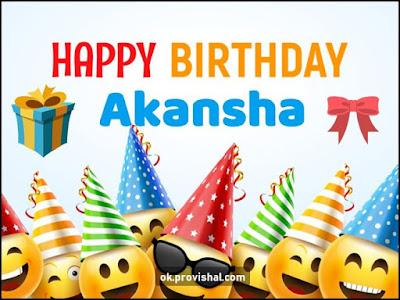 Happy Birthday Akansha Cake, Images and Wishes