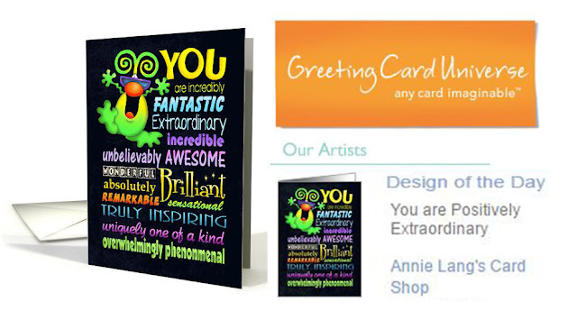 Extraordinary!  Annie Lang's greeting card is featured on greetingcarduniverse.com