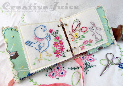 Lisa Hoel for Eileen Hull - embroidery Folio Journal  #eileenhull #eileenhulldesigns #eileenhullsizzix #ehinspirationteam #eheducators #Sizzix #mymakingstory #diecutting