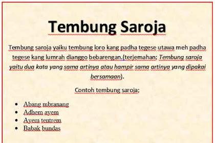Tembung Saroja dan Artinya Secara Lengkap