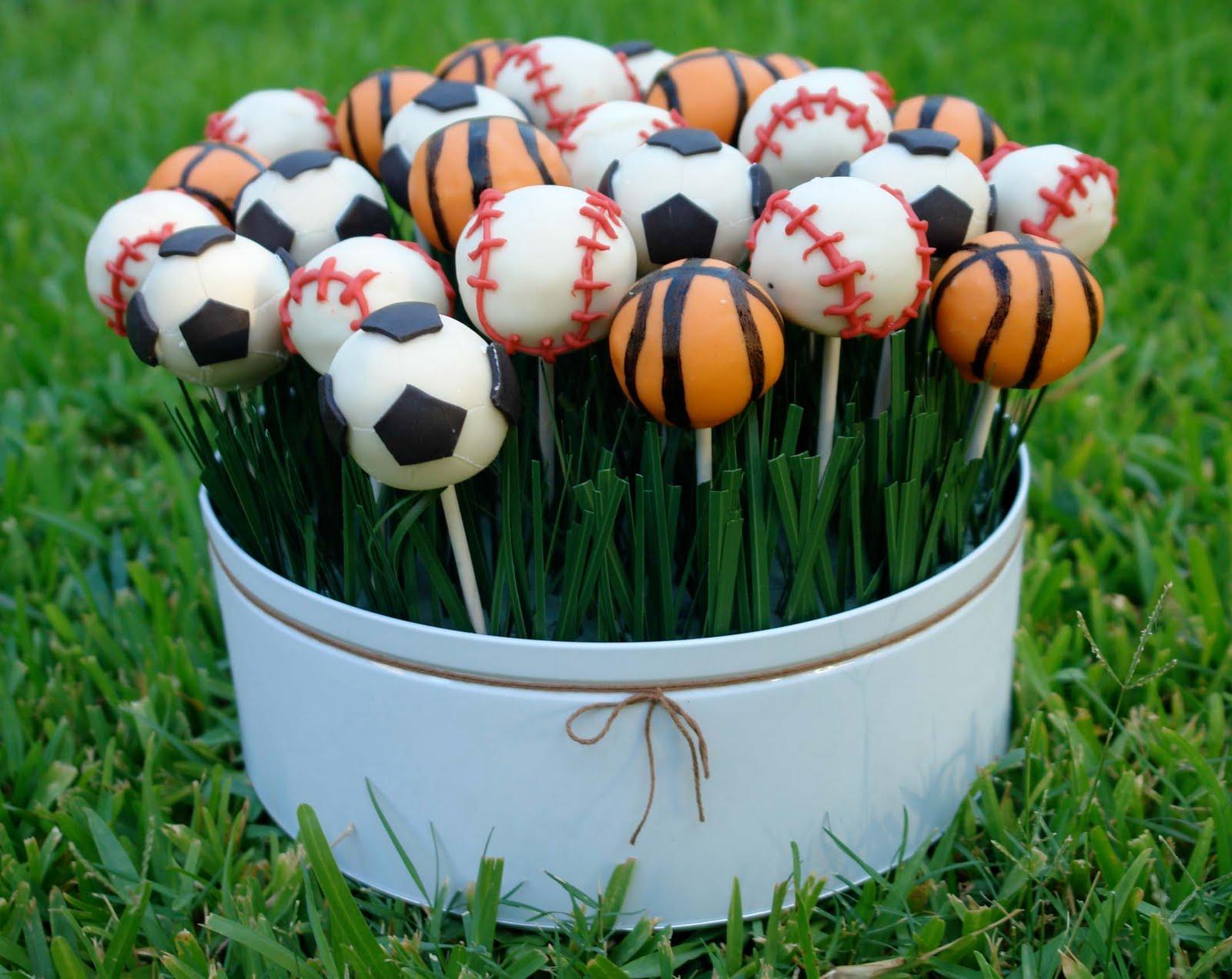 K Bakes Sports Themed Cake Pops
