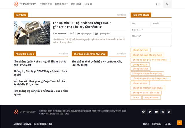 Trang web thuê phòng trọ TpHCM
