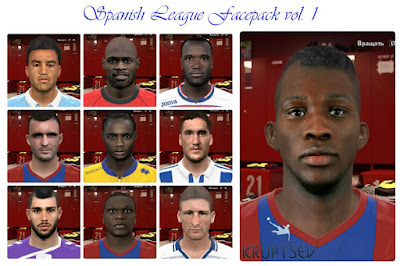 PES 2016 Spanish League Facepack vol. 1 by Kruptsev