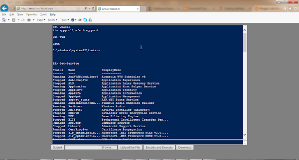 Antak WebShell - A webshell which utilizes PowerShell