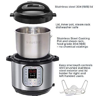 Instant Pot IP-DUO60 7-in-1 Programmable Pressure Cooker with Stainless Steel Cooking Pot and Exterior 6-Quart/1000-watt Latest 3rd Generation Technology