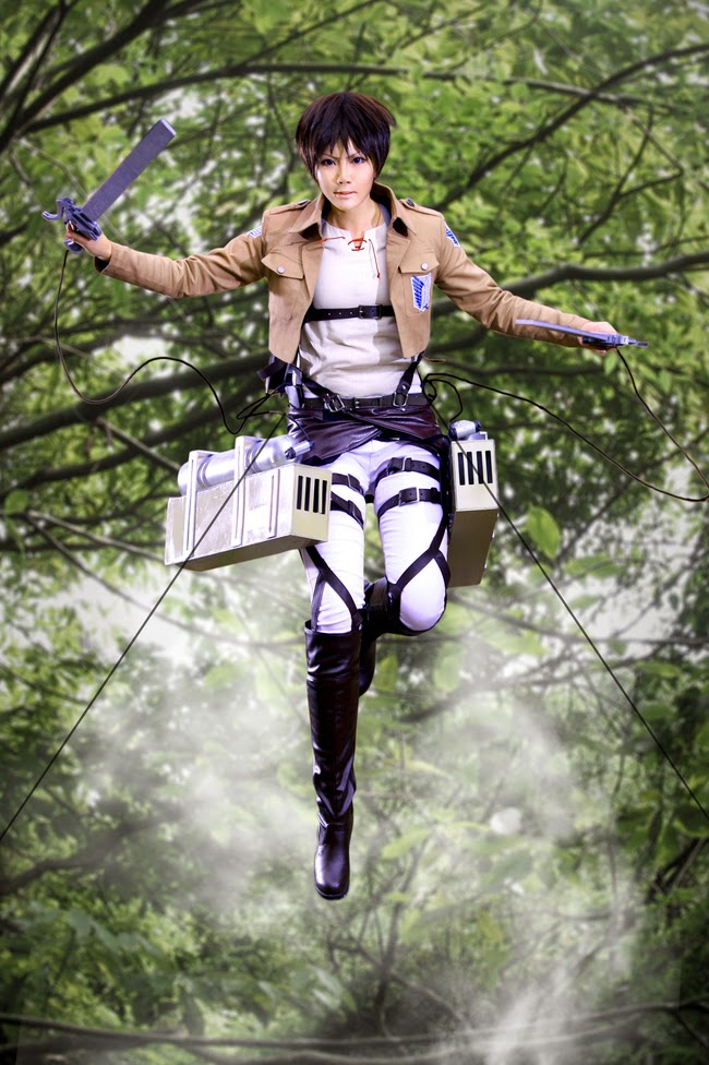 ENJOY COSPLAY: Attack on Titan Eren Jeager cosplay+Costume