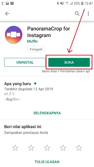 Cara Membuat Multiple Panoramic Instagram