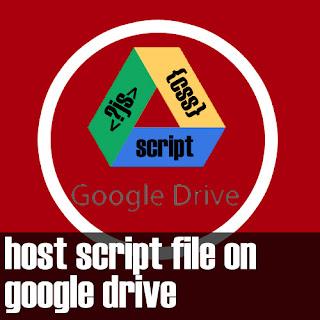 hosting script file di google drive