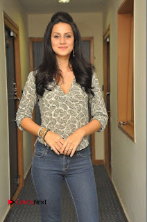 Actress Larissa Bonesi Pictures in Jeans at Big FM For Thikka Movie Promotions 0007