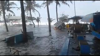 <b>Banjir Robb Juga Terjadi di Senggigi dan Terawangan, Diperkirakan Tinggi Gelombang Laut Berlangsung Hingga 31 Juli 2018</b>