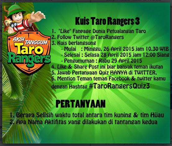 Kuis Taro Rangers 3 Berhadiah PSP & Nokia Asha