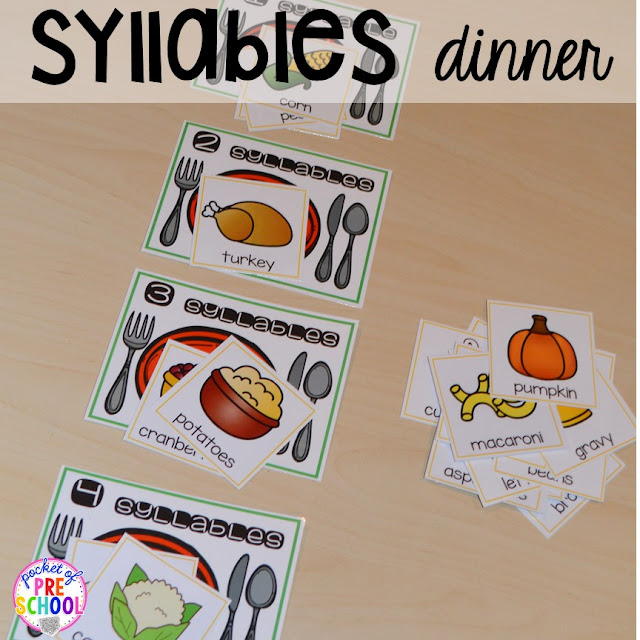 Thanksgiving Themed Activities and Centers for Preschool, Pre-K ...