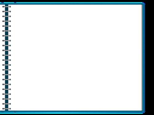 Caderno espiral aberto, folha em branco. #PraCegoVer