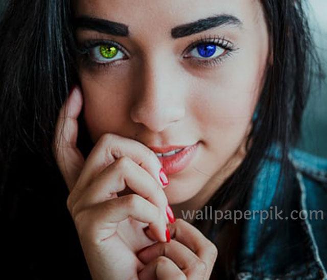 hot girl with blue eye wallpaper