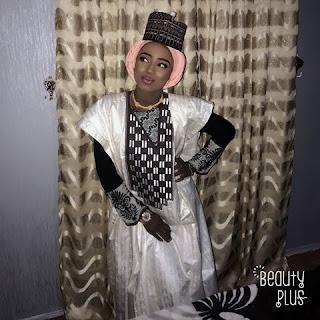 HOTUNA: Kalli Zafafan Hotunan Maryam Yahaya Tasa Shakwara Da Alkyabba