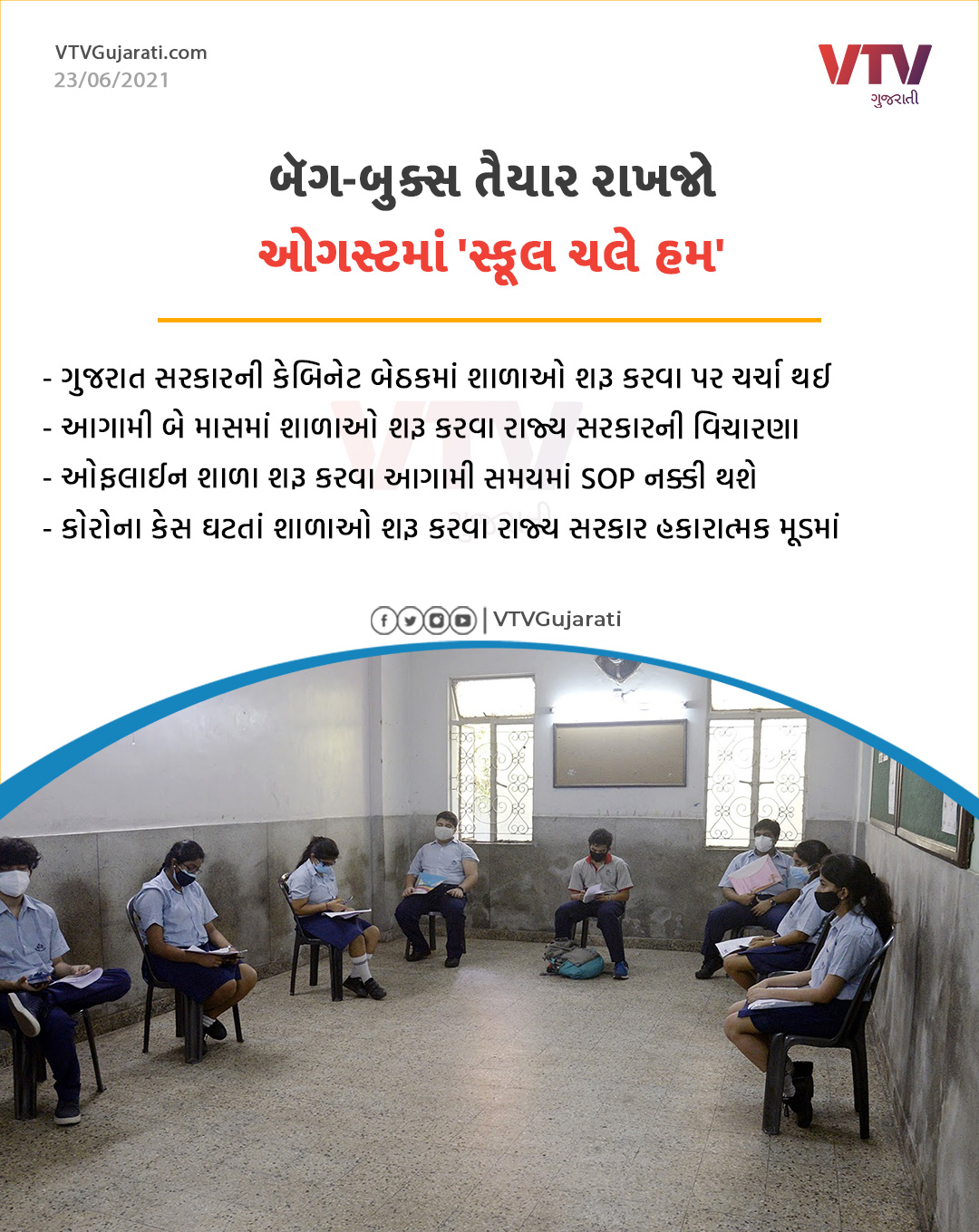 When can open School in Gujarat??  Related Latest News