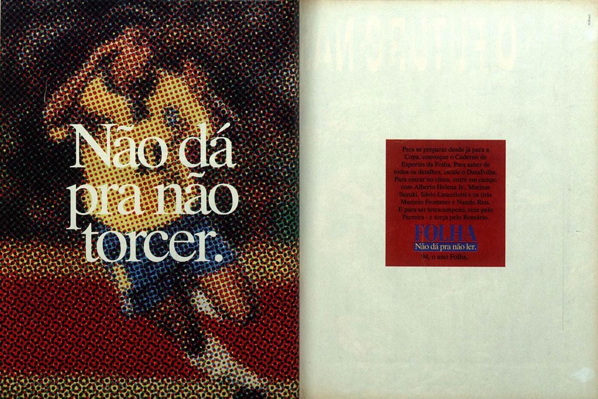 Propaganda antiga da Folha de São Paulo às vésperas da Copa do Mundo de 1994