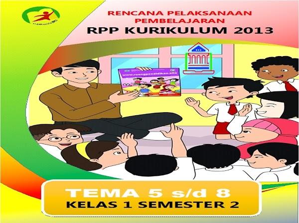 Download RPP Kurikulum 2013 Kelas 1 SD/MI 1 Lembar Semester 2 Edisi Revisi 2020