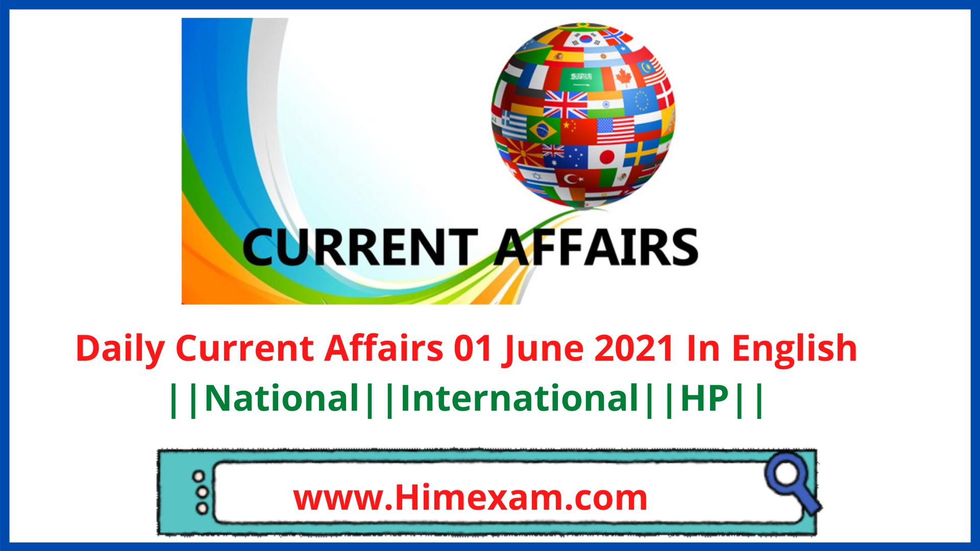Daily Current Affairs 01 June 2021 In English