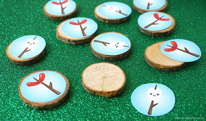 Camping Tic Tac Toe Pieces