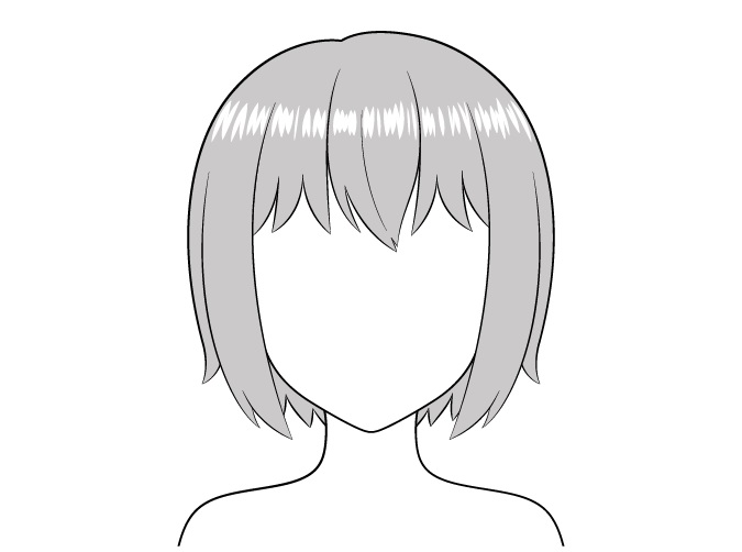 Sorotan realistis rambut anime
